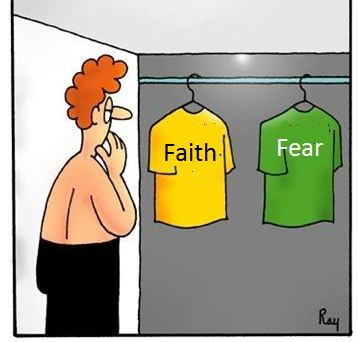 Image result for fear or faith